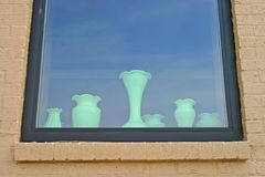 Vases in the Window Stock Photo
