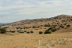 Vashlovani National Park, Kakheti - Georgia. Vashlovani National Park the driest deserts in Georgia. Panoramic view of mountains and canyons in Kakheti – royalty free stock photography