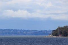 Vashon Island. Viewed from Seattle Royalty Free Stock Photo