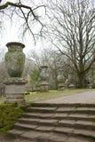 Vasi antichi nei giardini di Bomarzo Immagine Stock