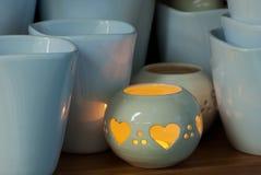 Vasi ceramici nel negozio fotografia stock libera da diritti