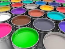 vasi 3D di pittura di pittura Fotografia Stock