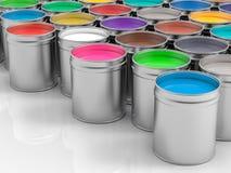 vasi 3D di pittura di pittura Fotografie Stock Libere da Diritti