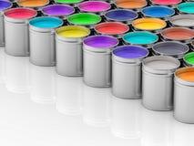 vasi 3D di pittura di pittura Fotografia Stock Libera da Diritti