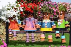 Vasi da fiori della petunia Fotografie Stock Libere da Diritti