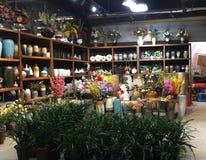 Vasi da fiori e barattoli da vendere al deposito Fotografia Stock Libera da Diritti