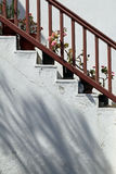 Vasi da fiori sulle scale Immagine Stock