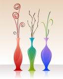 Vasi decorativi Fotografia Stock