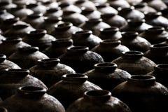 Vasi dell'argilla in Cina Fotografie Stock