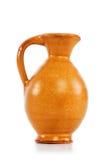 Vasi dell'argilla isolati sul bianco Fotografie Stock