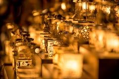 Vasi della candela Immagini Stock