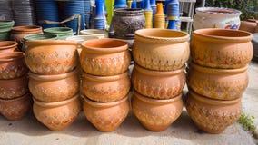 Vasi della pianta di giardino Fotografia Stock