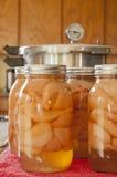 Vasi delle pere inscatolate domestiche Fotografia Stock