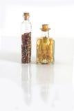 Vasi delle spezie ed aglio e cipolla immagini stock libere da diritti