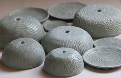 Vasi di argilla strutturati fotografie stock