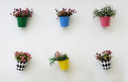Vasi di fiori variopinti Immagine Stock Libera da Diritti