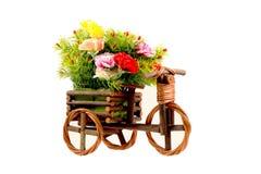 Vasi di fiori variopinti Fotografia Stock