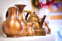 Vasi di rame Fotografia Stock