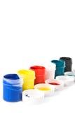 Vasi di vernice. immagini stock