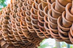 Vasi e connettività di argilla Fotografia Stock
