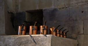 Vasi e pentole di Cupper in Francia Fotografie Stock
