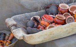 Vasi e tazze di argilla Fotografia Stock