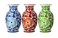 Vasi floreali della porcellana cinese Immagini Stock
