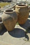 Vasi molto vecchi in Knossos Fotografie Stock Libere da Diritti