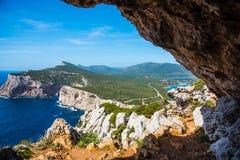 Vasi Rotti cave in Capo Caccia Royalty Free Stock Photography