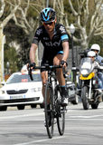 Vasil Kiryienka of Team Sky Royalty Free Stock Images