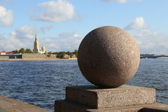 Vasilevsky ö, St Petersburg, Ryssland Fotografering för Bildbyråer