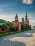 Vasilevsky descent area. Area located on Red Square to Kremlin embankment along Kremlin wall. On square are often held celebrations, holidays and sporting Royalty Free Stock Photos