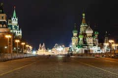 Vasilevsky Descent of Red Square in Moscow Royalty Free Stock Photo