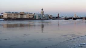 Vasilevsky-Insel St Petersburg Russland Lizenzfreie Stockfotografie