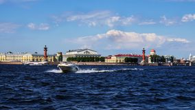 Vasilevsky Island in St. Petersburg. Vasilevsky Island in  St. Petersburg Stock Photography