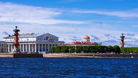 Vasilevsky Island in St. Petersburg, Russia Stock Photos