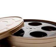 Vasilha do carretel do filme no branco com espaço da cópia Foto de Stock Royalty Free