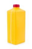Vasilha plástica amarela isolada no branco Foto de Stock