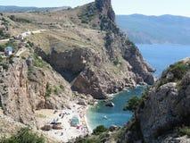 Vasili beach In Balaclava Royalty Free Stock Photography