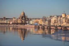Vasilievsky-Insel, im Winter St Petersburg, Russland Lizenzfreie Stockfotografie