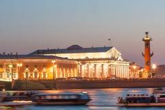 Vasilievsky-Inselspucken Lizenzfreie Stockfotografie