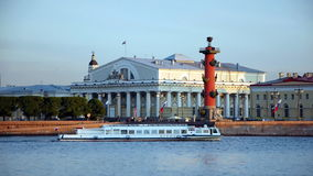 Vasilievsky Island, The Exchange Building. The Exchange Building in Saint-Petersburg Royalty Free Stock Photo