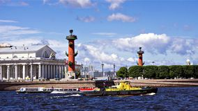 Vasilievsky Island in Saint Petersburg, Russia Royalty Free Stock Images