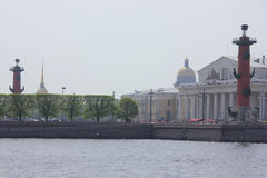 Vasilievsky island, St. Petersburg, Russia Stock Photography