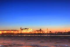 Vasilievsky island, St. Petersburg, Russia Royalty Free Stock Photos
