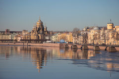 Vasilievsky island, in winter. Saint-Petersburg, Russia Royalty Free Stock Photography