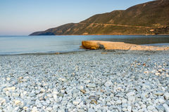Vasiliki日出,莱夫卡斯州,爱奥尼亚人海岛 图库摄影
