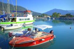 Vasiliki harbour,Greece Stock Images