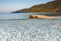 Vasiliki Sunrise Lefkada, Ionian öar Arkivbild