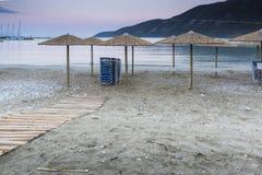 Vasiliki Sunrise, Lefkada, Ionische Eilanden Royalty-vrije Stock Foto